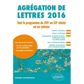 Programme Agregation Externe Lettres Modernes 2019