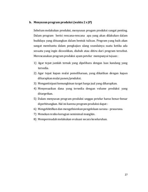 praktek membuat proposal wirausaha unggas petelur agribisnis ternak unggas petelur