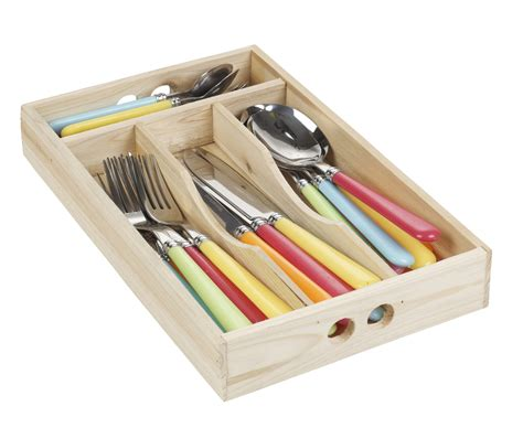24pcs stainless steel cutlery set in wooden box kitchen