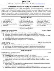resume templates it programmer database developer network administrator