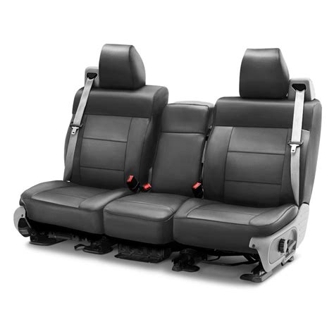 custom bench seat covers coverking 174 csc1l3fd7406 genuine leather 1st row gray