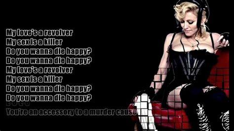 madonna revolver feat lil wayne lyrics on screen