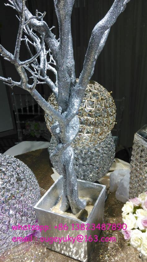 glitter branches for centerpieces silver glitter artificial tree branches wedding table tree