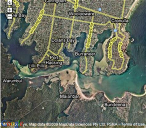 free boating maps nsw south west arm port hacking map download free intratracker
