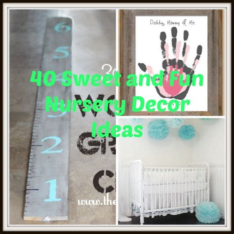 Nursery Diy Decor 40 Sweet And Diy Nursery Decor Design Ideas