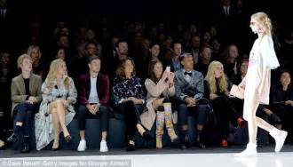 Front Row Fabulistas Which Are Getting The Best Seats At New York Fashion Week by Ellie Goulding Flashes Legs At Emporio Armani Lfw Show