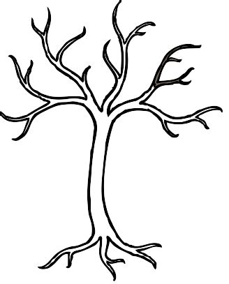 tree trunk coloring page clipart best