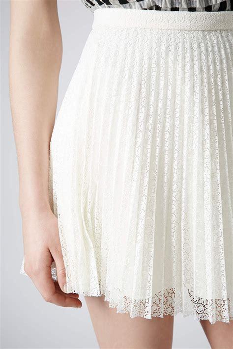 pleated white mini skirt dress