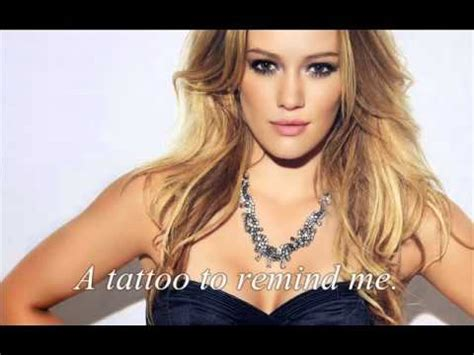 tattoo hilary duff ed sheeran lyrics hilary duff tattoo acoustic lyrics youtube