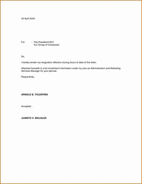 a well written sample resignation letter initiates the process of