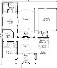 U Shaped Floor Plan House Plan 40027