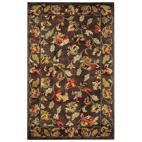 5 by 8 area rugs home decorators collection royal brown 8 ft x 11 ft area rug 2755340820 the home depot