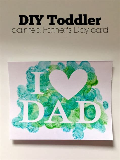 Printable Fathers Day Cards For Toddlers