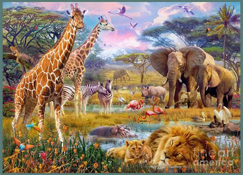 Home Decor Blogs South Africa by Savannah Animals Digital Art By Jan Patrik Krasny