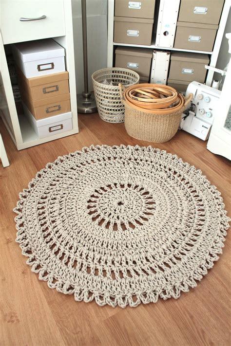 cotton rope crochet rug carpet rug crochet handmade neutral shabby chic cotton rope rope rug receptions