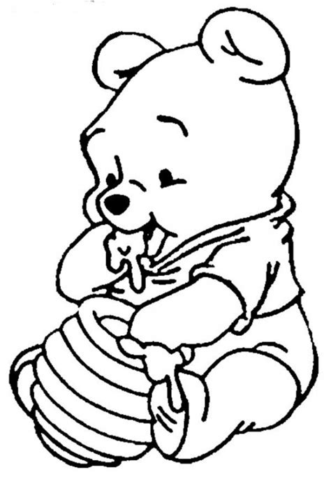 Cool Baby Winnie The Pooh Coloring Pages Free Picture And Wallpapers sketch template