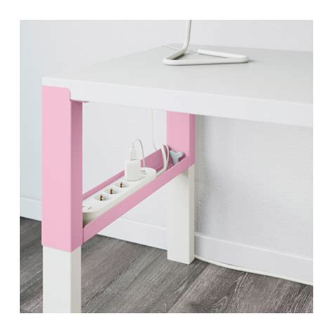 P 197 Hl Desk White Pink 128x58 Cm Ikea Pink And White Desk