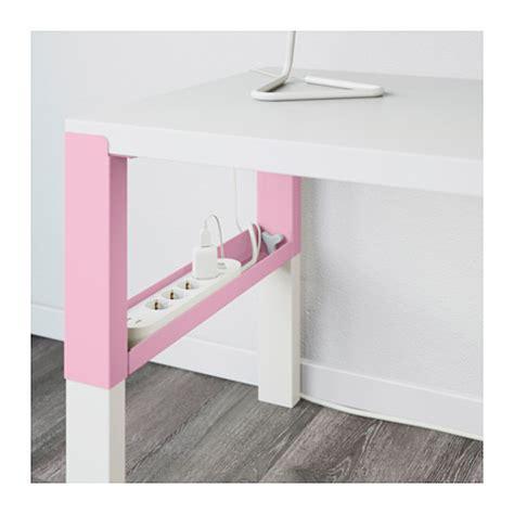 P 197 Hl Desk White Pink 128x58 Cm Ikea White And Pink Desk