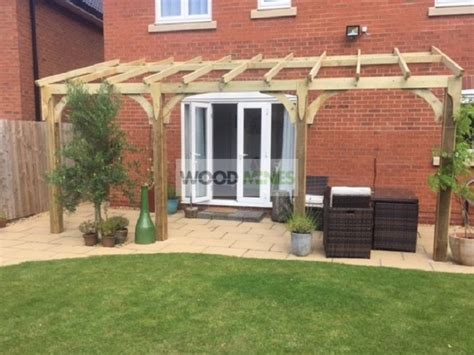 Garden Ideas Photos 3m x 3m lean to pergola canopy woodmines info