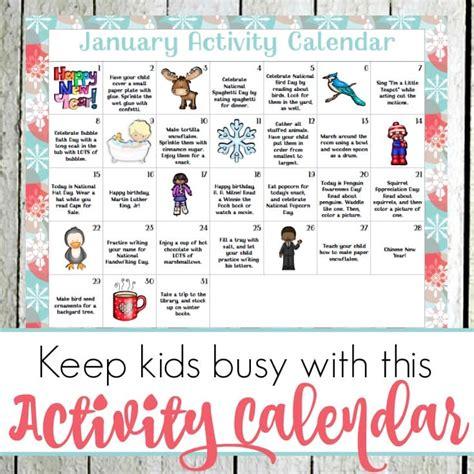 kindergarten activities january january preschool activity calendar
