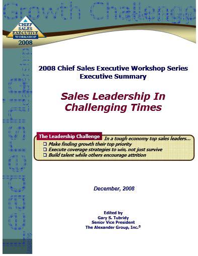 sales leadership in challenging times
