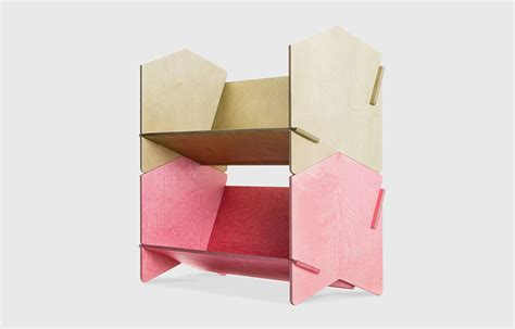 chevron shelf flat packs a punch australian design review
