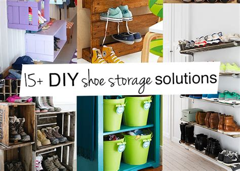 diy shoe storage solutions diy family shoe storage solutions andrea s notebook