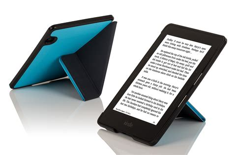 Kindle Origami - leather smart origami cover for kindle voyage