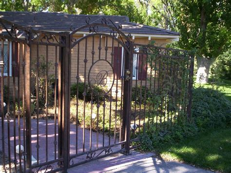 decorative wrought iron fence panels outdoor decorations