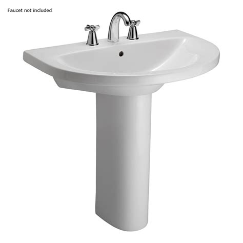 Pedestal Sinks At Lowes shop barclay jumeirah 33 25 in h white vitreous china