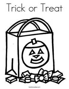 Trick Or Treat Coloring Page Twisty Noodle Trick Or Treat Coloring Page