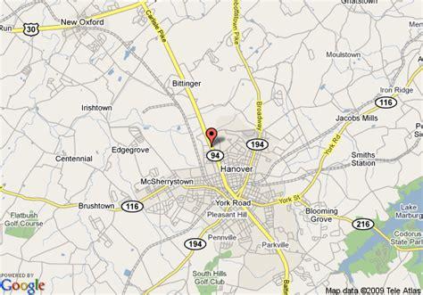 map usa hanover map of rodeway inn hanover hanover