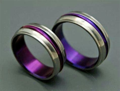 Eheringe Lila purple wedding rings for my of purple