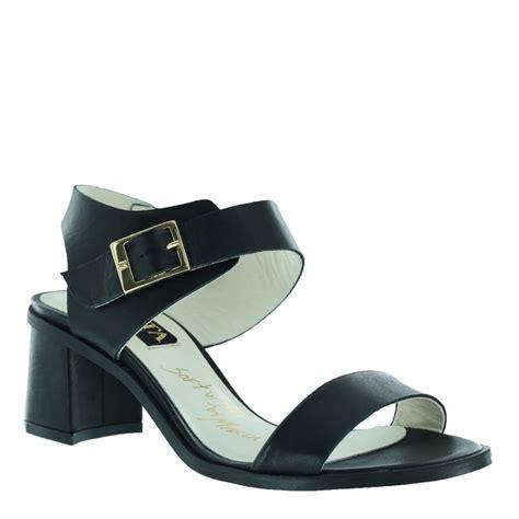 womens black heeled sandals marta jonsson womens block heel sandal 4537l s black