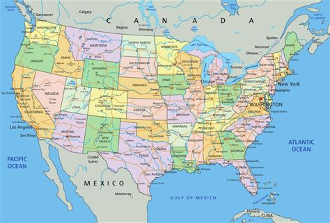 united states map with rivers and oceans jednotliv 233 st 225 ty usa usa mahalo cz