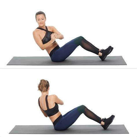 obliques seated russian twist  ab exercises