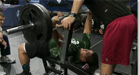 average nfl bench press strength training the neck june 2011