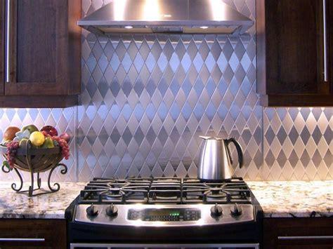 aluminum kitchen backsplash metal tile backsplashes hgtv