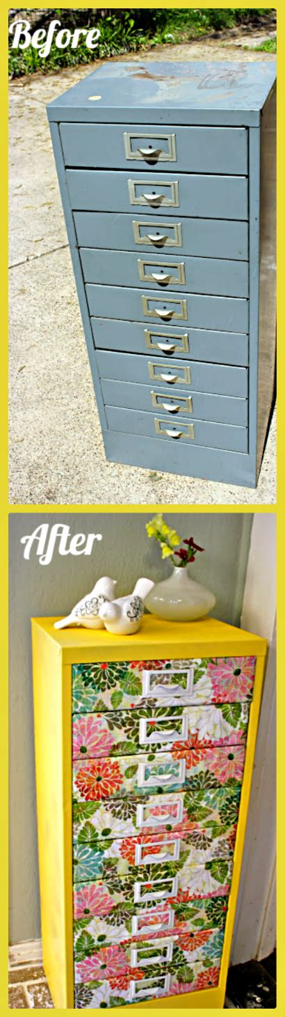 Upcycled Metal Filing Cabinet Moptu Allison Gould Refab Diaries Upcycle Filing Cabinet