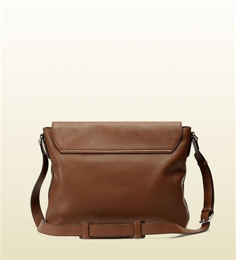 Guc Ci Leather Brown lyst gucci soho leather messenger bag in brown for