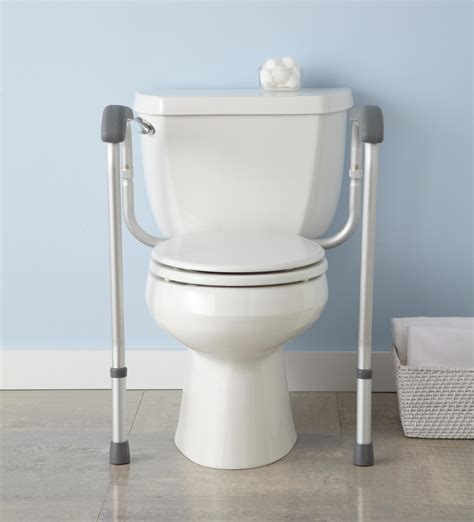 bathroom rails amazon com medline toilet safety rails health personal