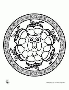 printable turkey mandala fall mandala coloring pages for kids and adults woo jr
