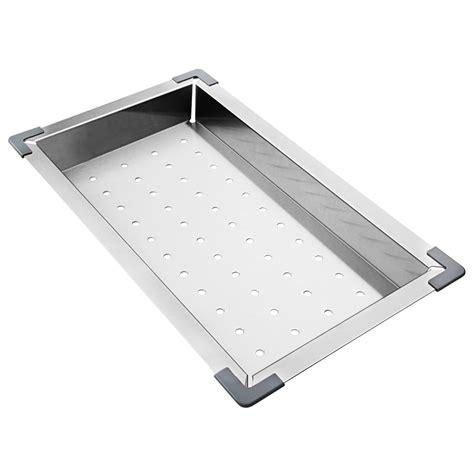 kitchen sink colander stainless steel kitchen sink colander rectangle