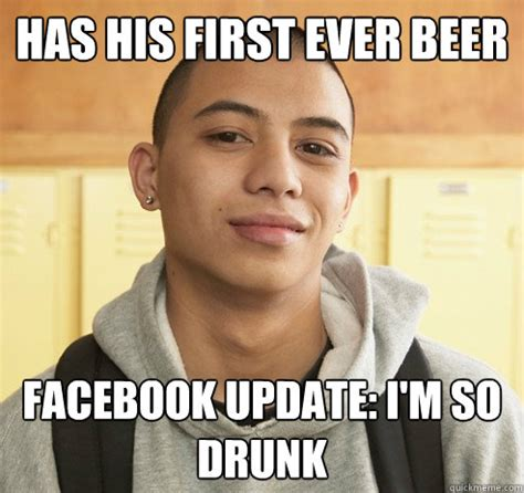 Drunk Sex Meme - has his first ever beer facebook update i m so drunk