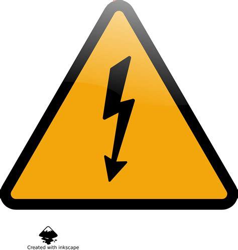 Clipart - caution high voltage Art Clipart Logo