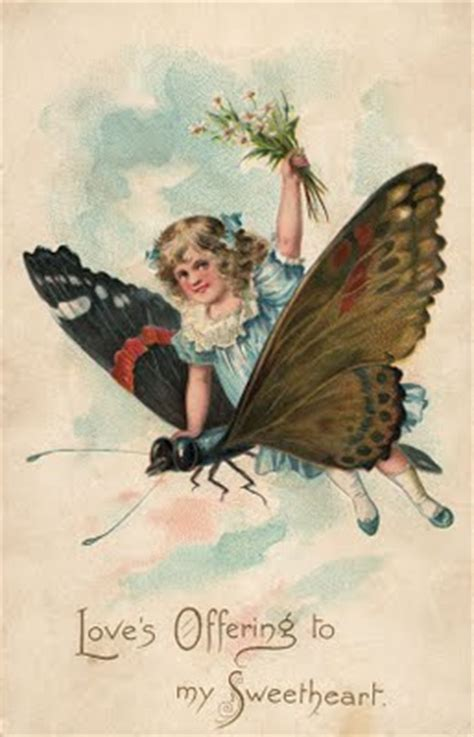 vintage clip art girl  butterfly  graphics