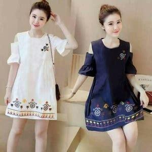 Hem Linin Puff Atasan Baju Wanita model baju mini dress pendek fashion wanita motif cantik