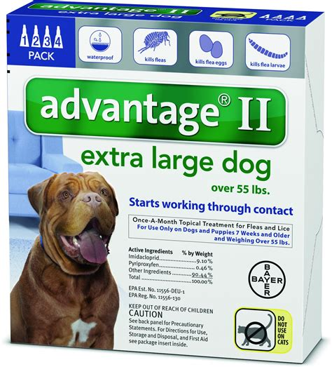 best topical flea treatment for dogs advantage ii flea treatment for dogs 55 lbs 4 treatments chewy