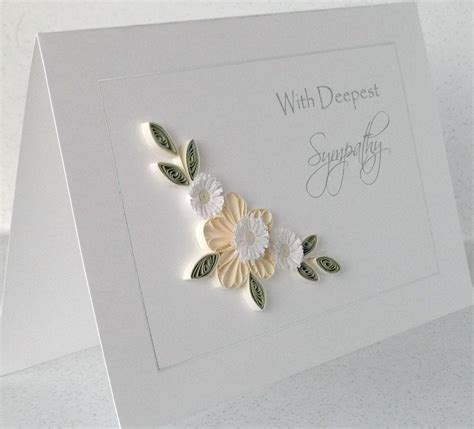 sympathy cards paper cards quilled sympathy card