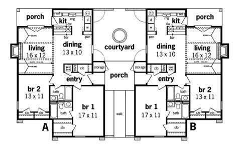 multi family home floor plans henderson place duplex home plan 020d 0025 house plans